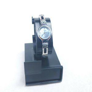 Vintage Timex J9 Silver Women Quartz Watch Abalone